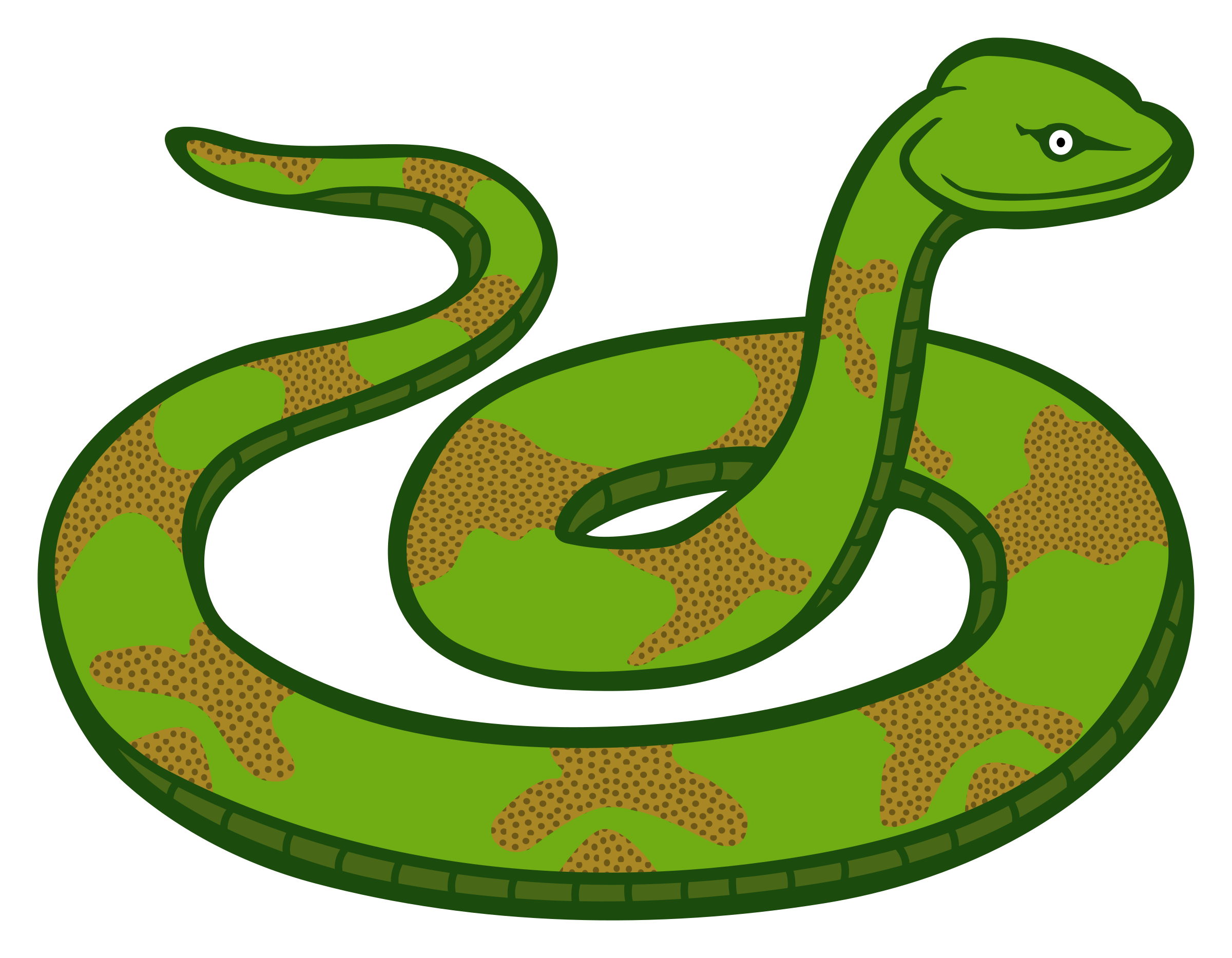 328 Snakes free clipart.