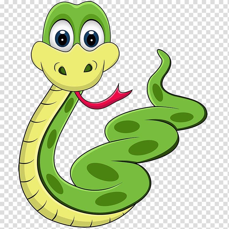 Green and yellow snake illustration, Snake Python Piedmont.