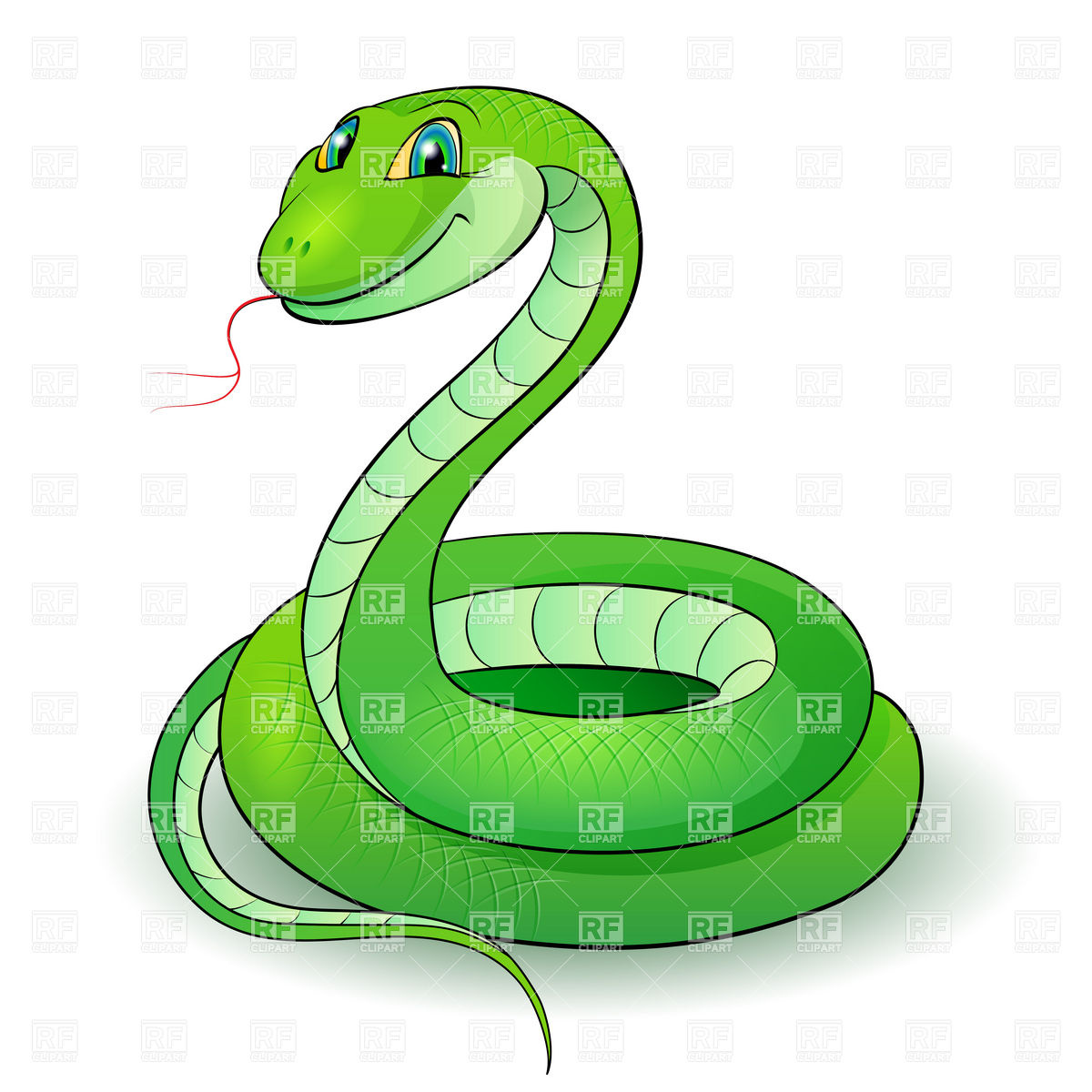 Cute Snake Clipart Black And White.