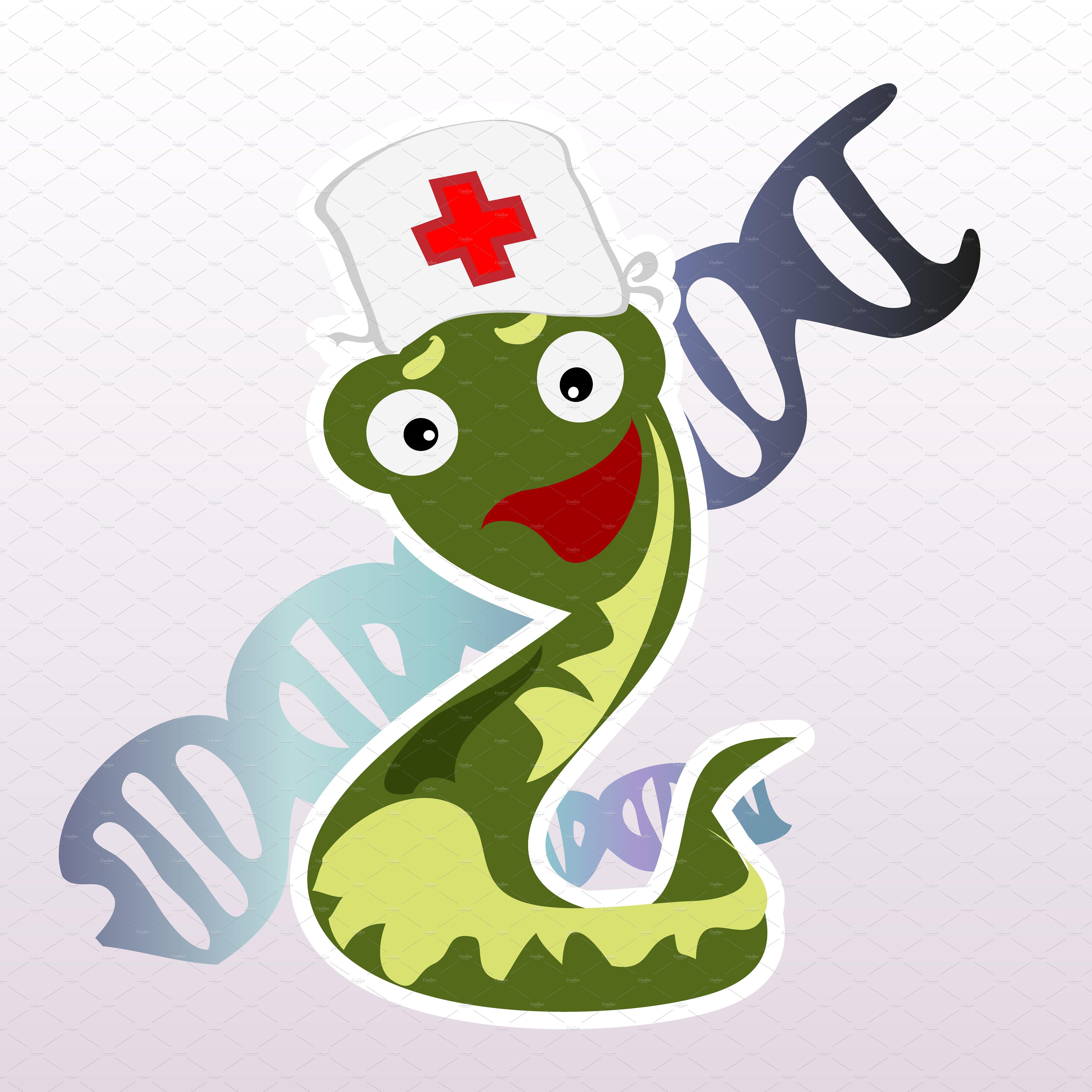 Little cartoon doctor snake ~ Illustrations on Creative Market.