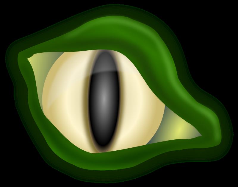 Crocodile eyes clipart.