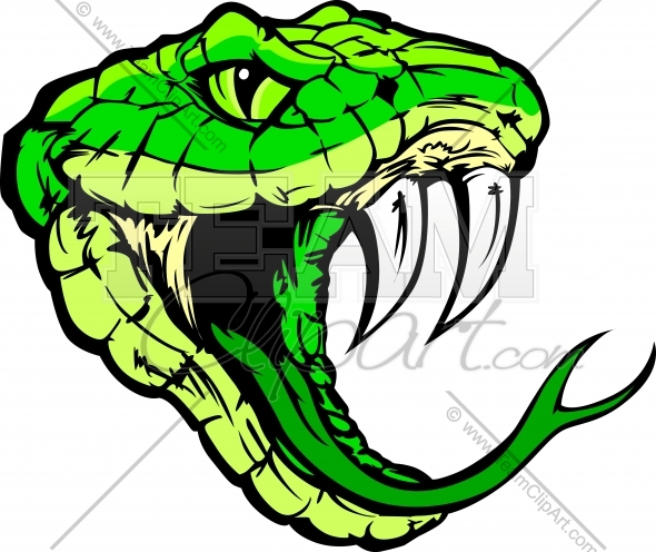 Snake head clip art.