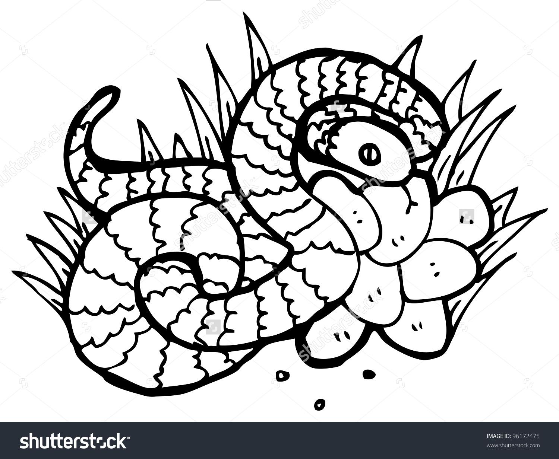 Snake Nest Eggs Illustration Stock Illustration 96172475.