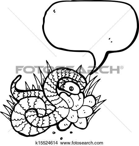 Clipart of illustrated snake on nest of eggs k15524614.