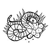 Snake And Eggs Stock Illustrations.