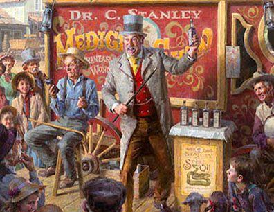 snake oil salesman history.