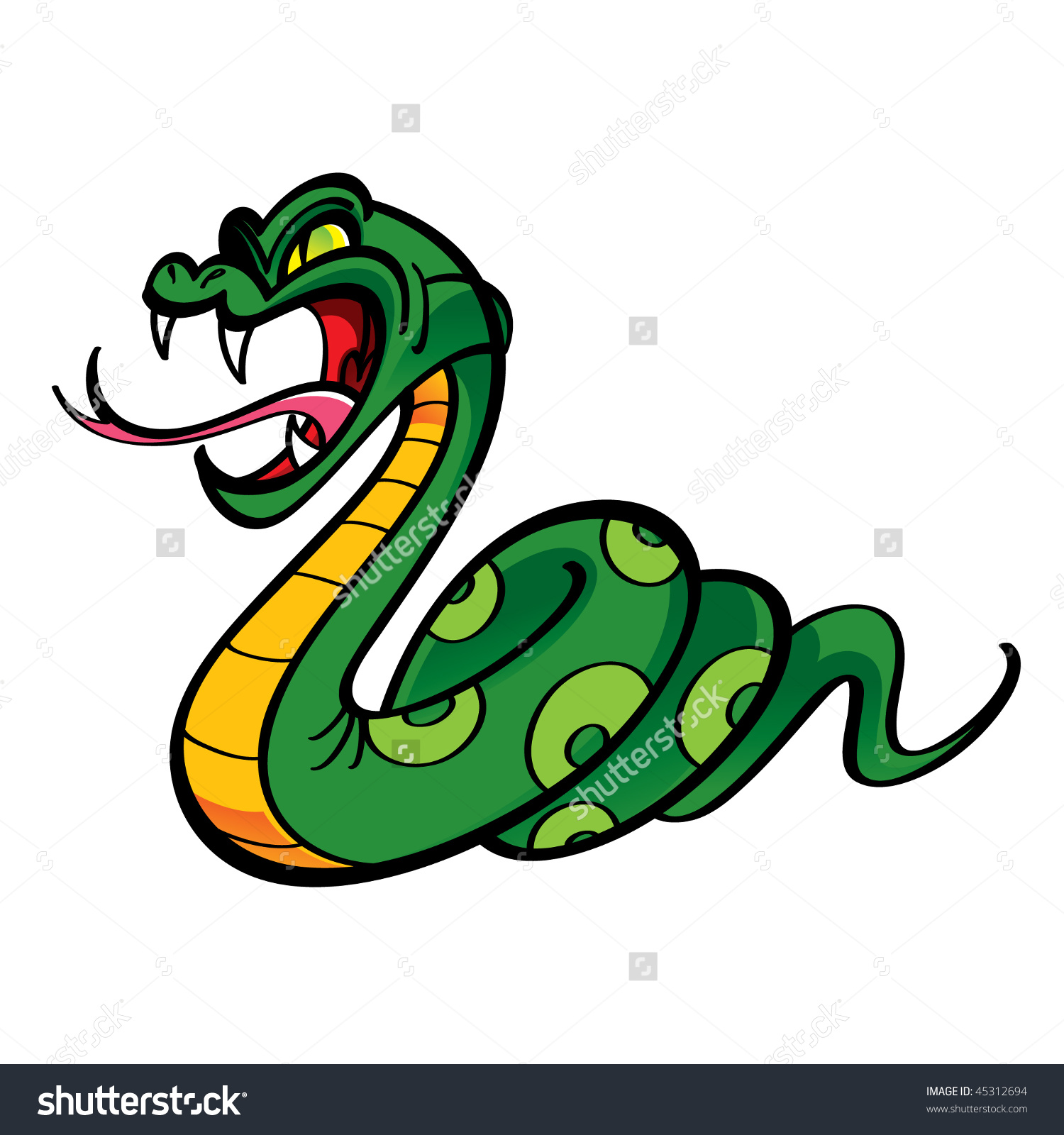 Angry Snake Stock Vector 45312694.