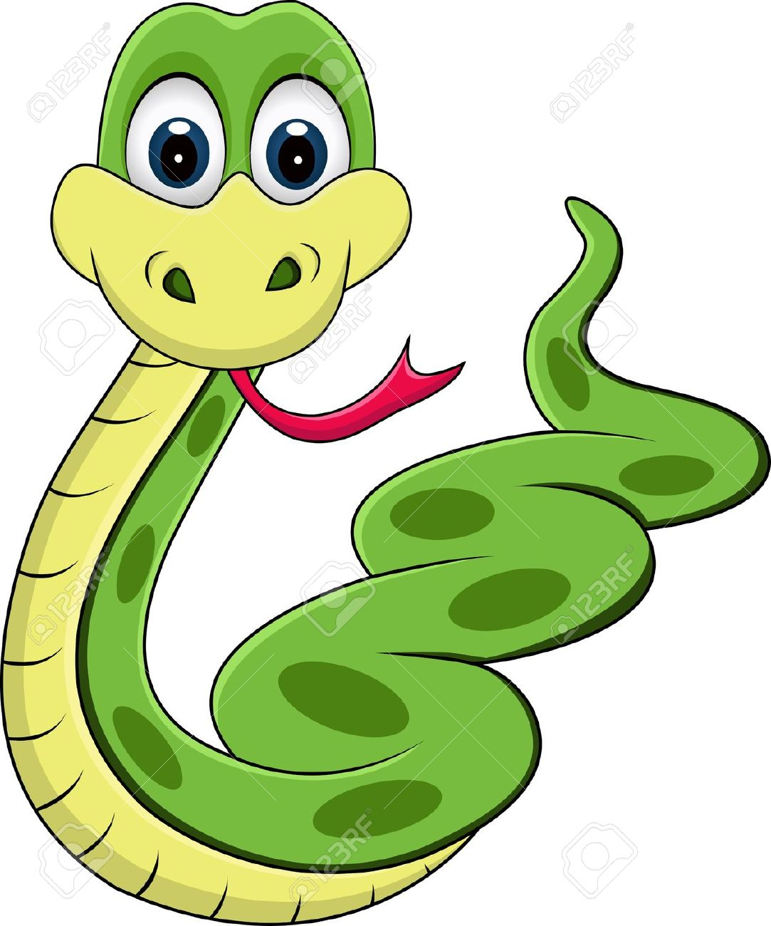 CLIPART FUNNY SNAKE.