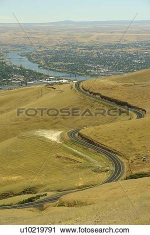 Stock Photography of ID, Idaho, WA, Washington, Snake River.