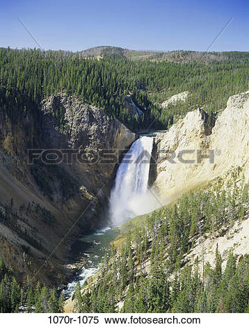 Stock Image of Waterfall at Snake River, Yellowstone National Park.