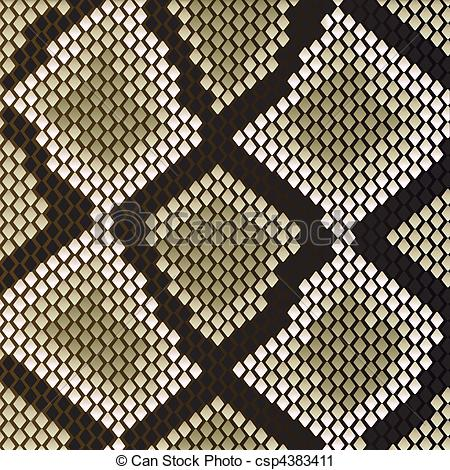 Vector Clip Art of Snake skin pattern for design as a background.