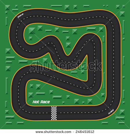 Race Track Map Clipart Free.