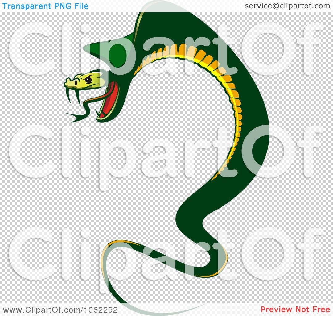 Clipart Menacing Cobra Snake.