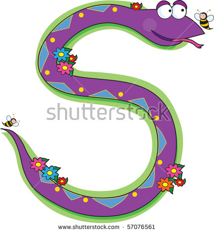 S For Is Snake Stock Photos, Royalty.