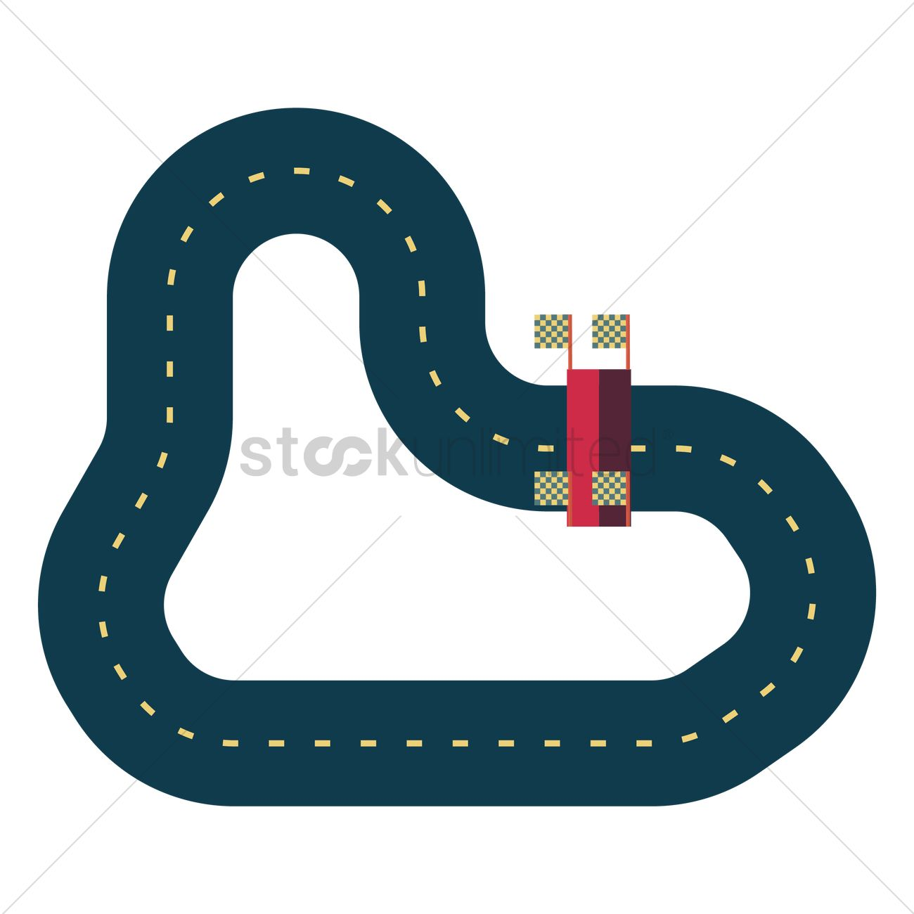 Race track Vector Image.