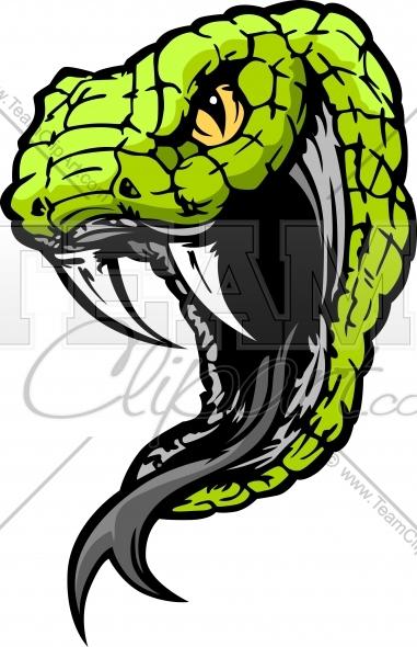 Rattlesnake Mascot Clipart.