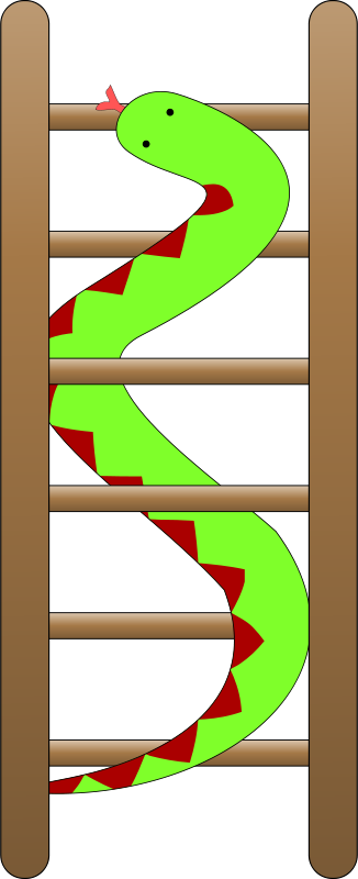 Free Clipart: Snakes and ladders.