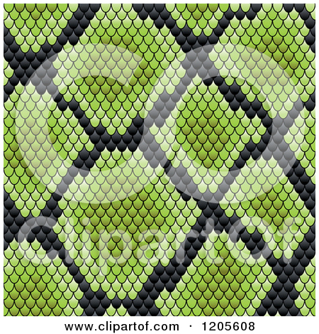 Clipart of a Brown Snake Skin Texture.