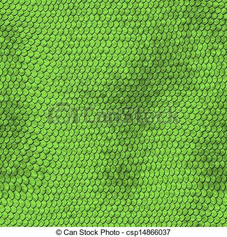 Drawings of Green python snake skin texture background.