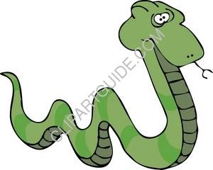 Clipart Illustration: Green Snake.