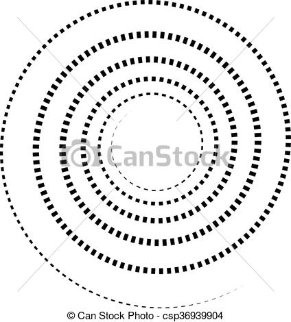 Vector Clipart of Abstract spiral element. Twirl, swirl, whorl.