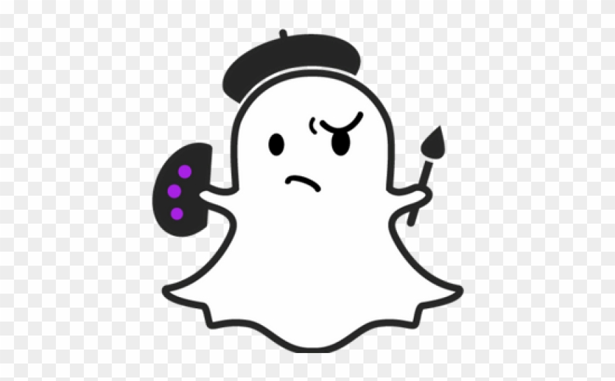 Snapchat Clipart Smiling Ghost.