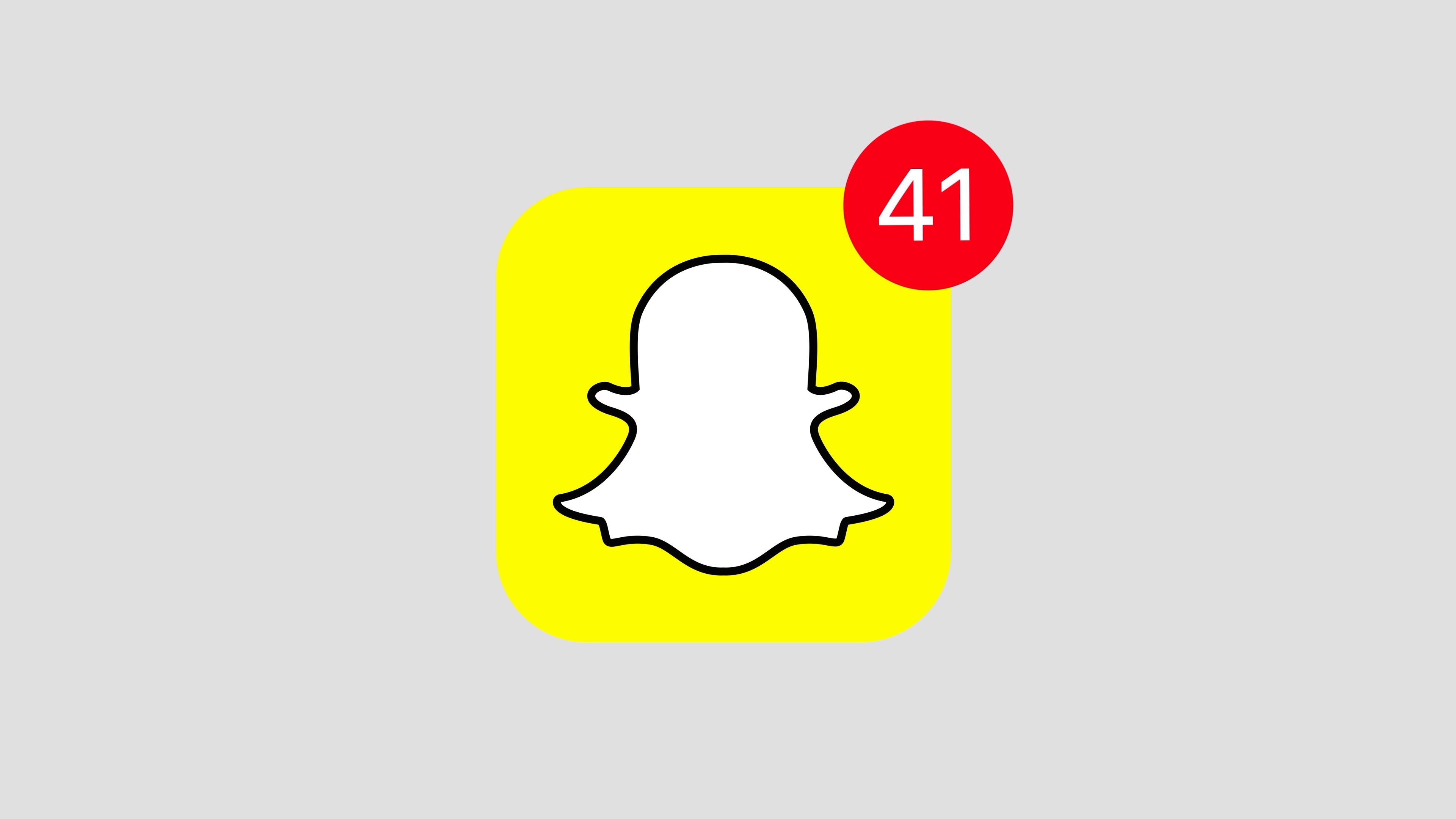 Stock video animation of Snapchat social media website logo app icon popup  notification message.