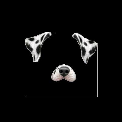 Snapchat Dog Filter Clipart.