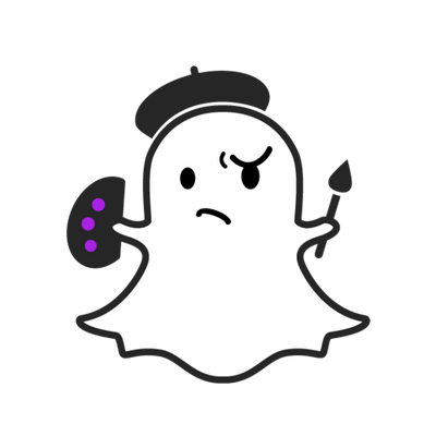 Snapchat Ghost Clipart.
