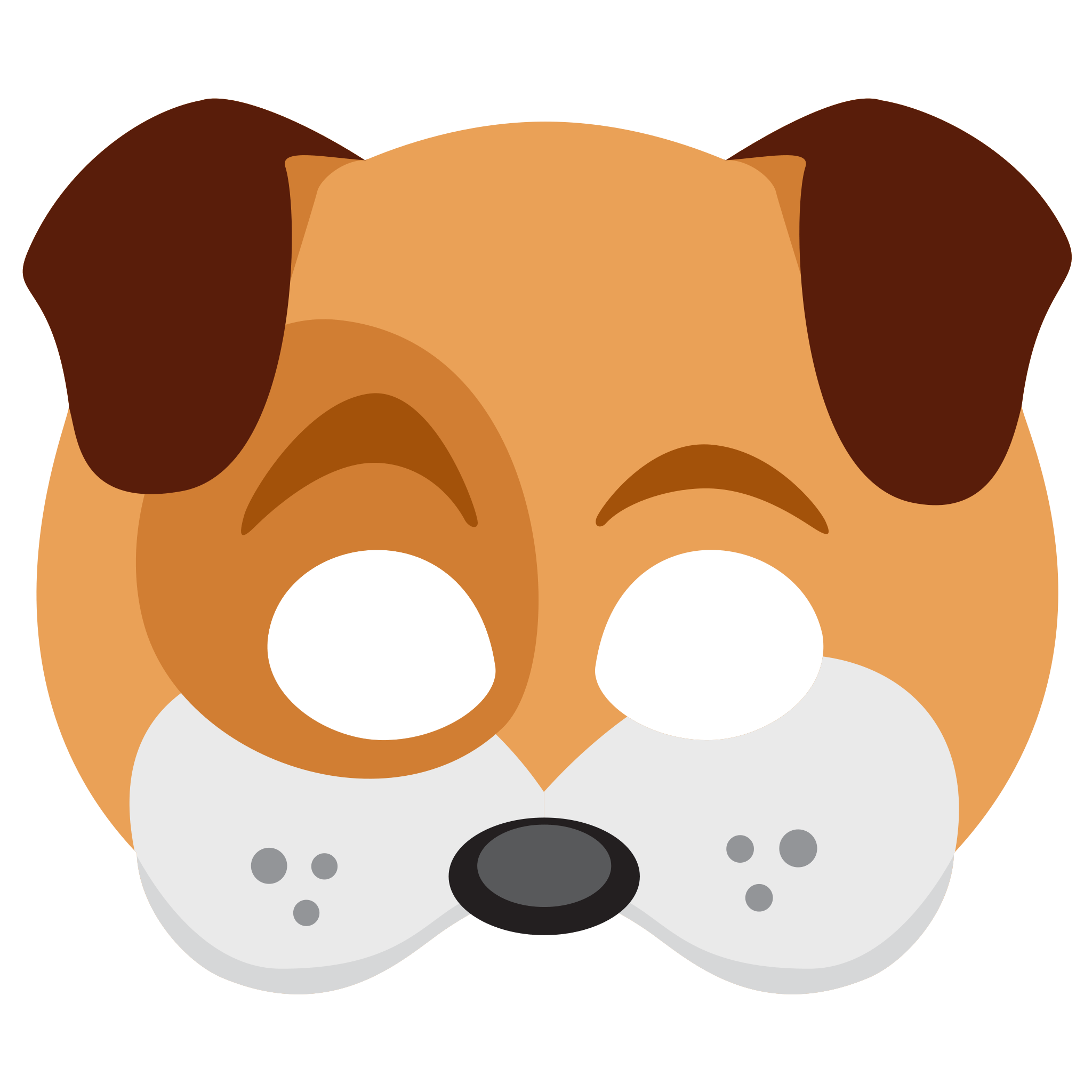 Snapchat Dog Face Sticker transparent PNG.