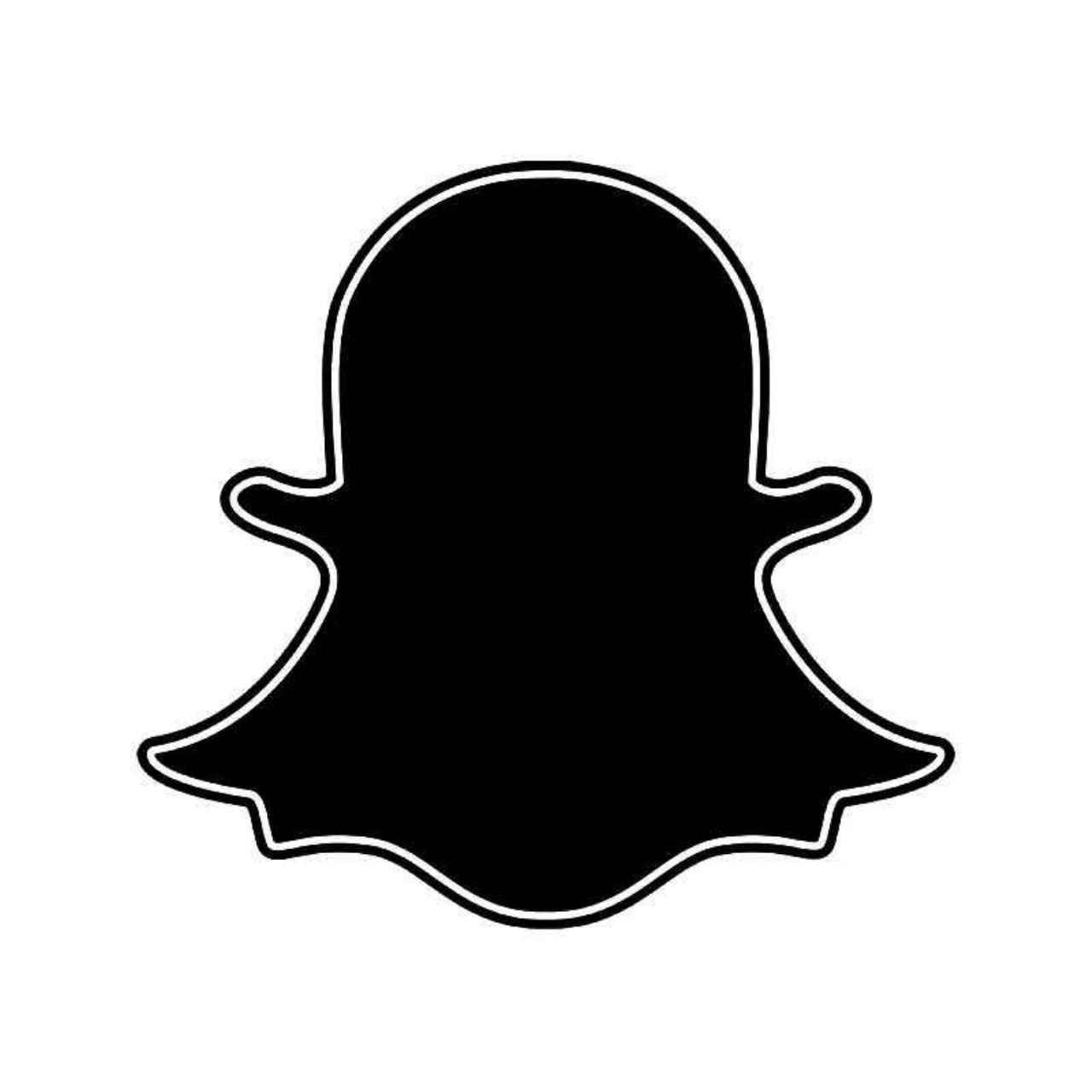 Snapchat Ghost Logo Vinyl Decal Sticker BallzBeatz . com in 2019.