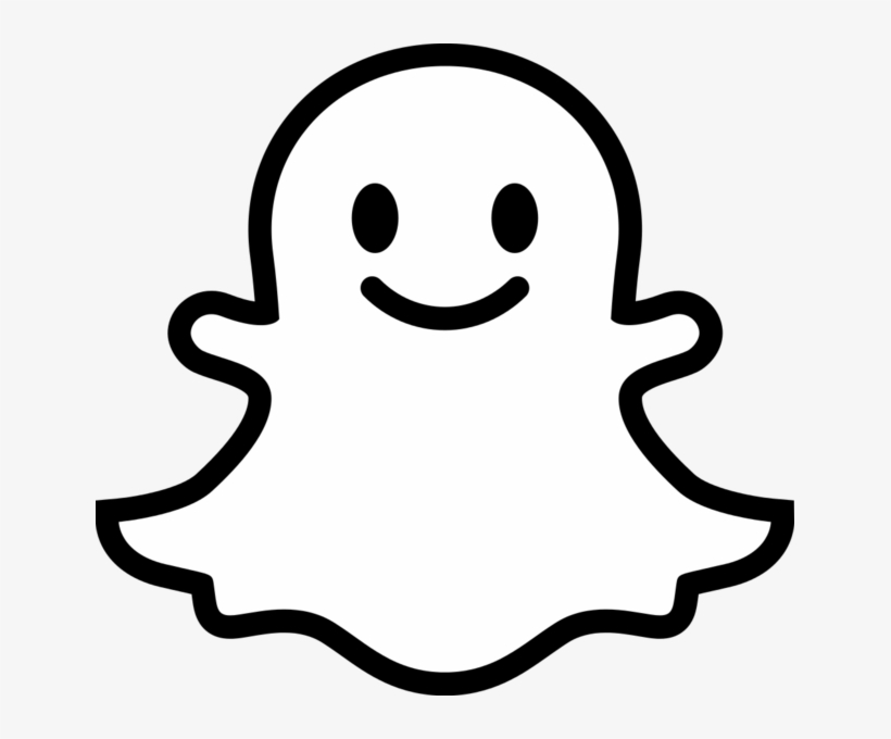 Snapchat Ghost Png Jpg Library Stock.