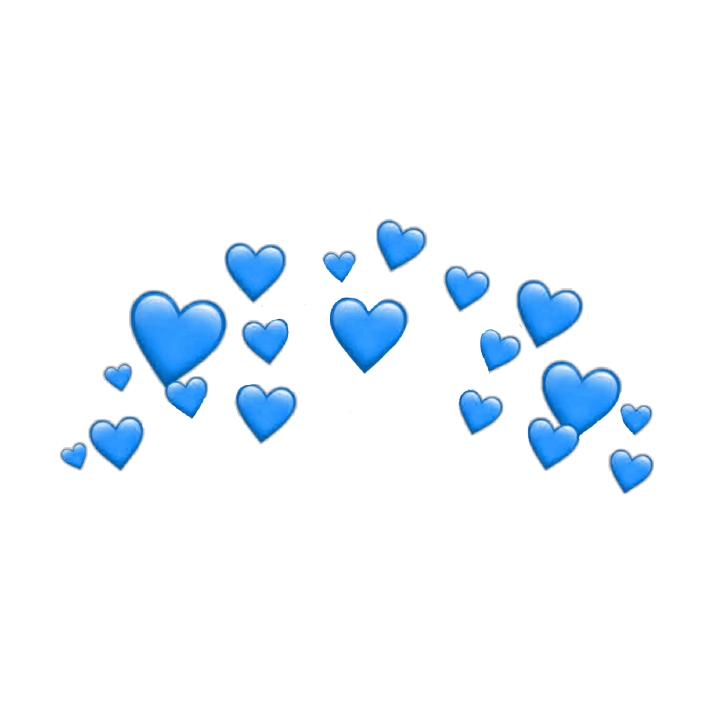 heart hearts heartcrown crown filter snapchat blue stic.