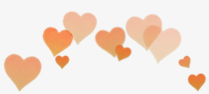 Orange Heart Filter Snapchat Snapchat Crown Clip Art.