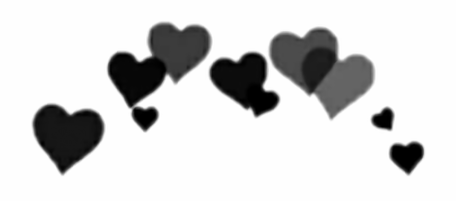 Black Heart Crown Png , Png Download.