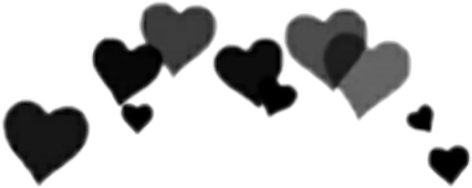 HD Black Heart Crown Png , Png Download.