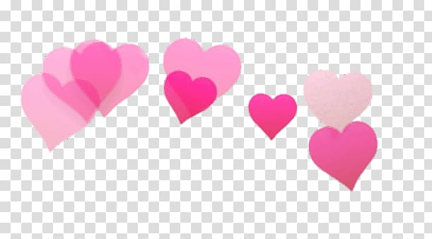 Pink hearts , Snapchat Filter Hearts transparent background.