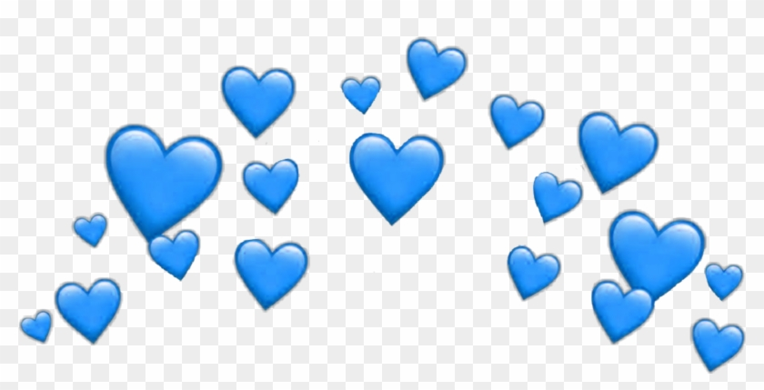 Heart Hearts Heartcrown Crown Filter Snapchat Blue.