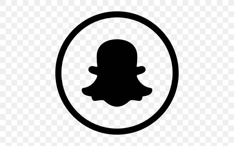 Using Snapchat Logo Social Media Black And White, PNG.