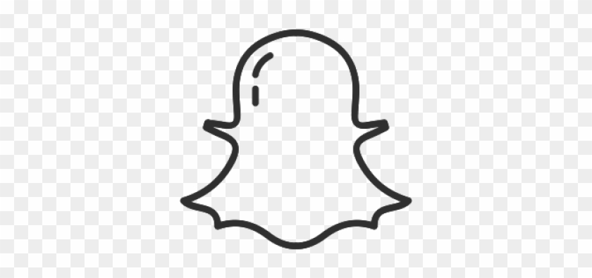 Drawn Ghostly Snapchat Logo.