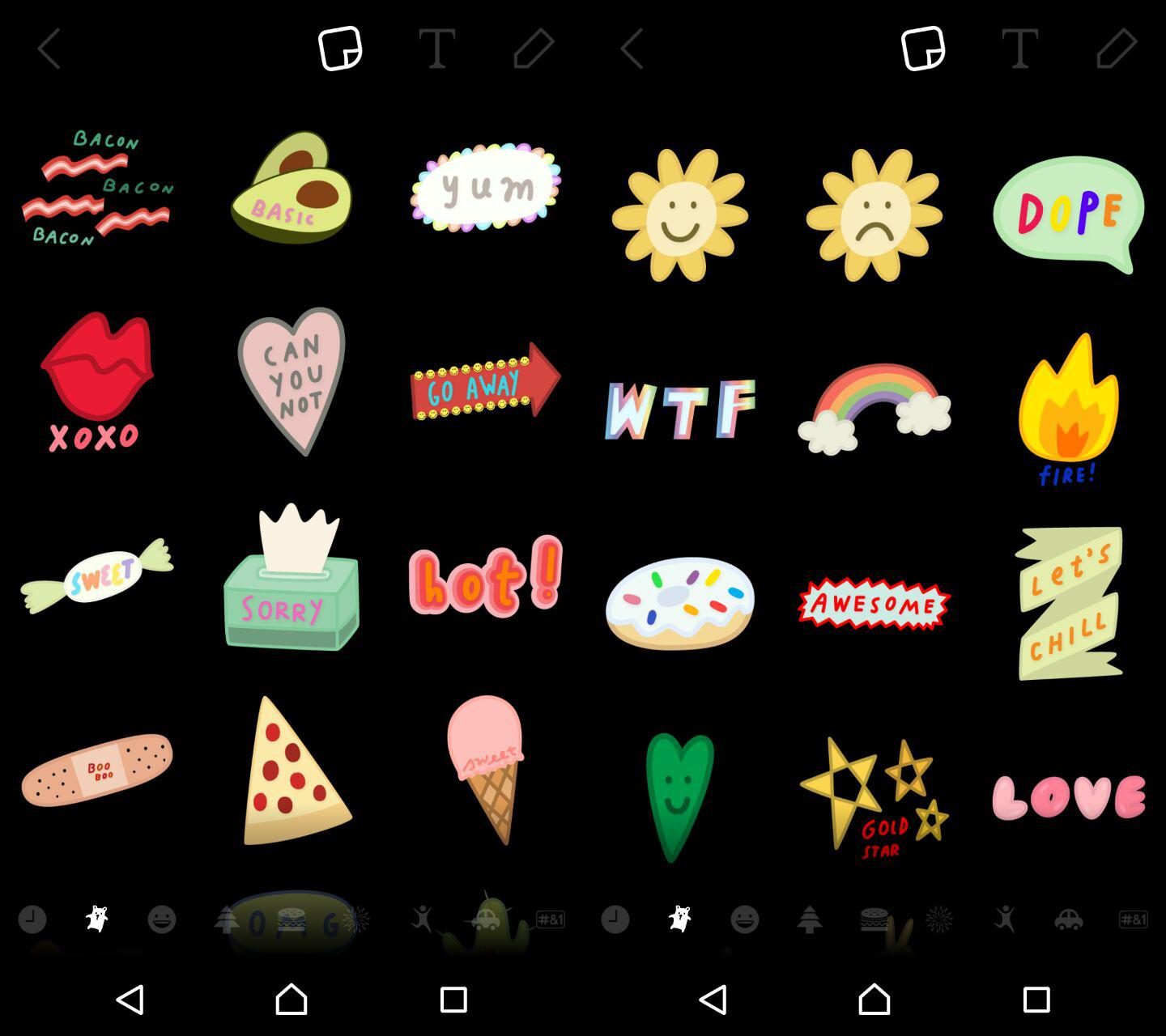 Snapchat adds a ton of stickers for you to add to your snaps.