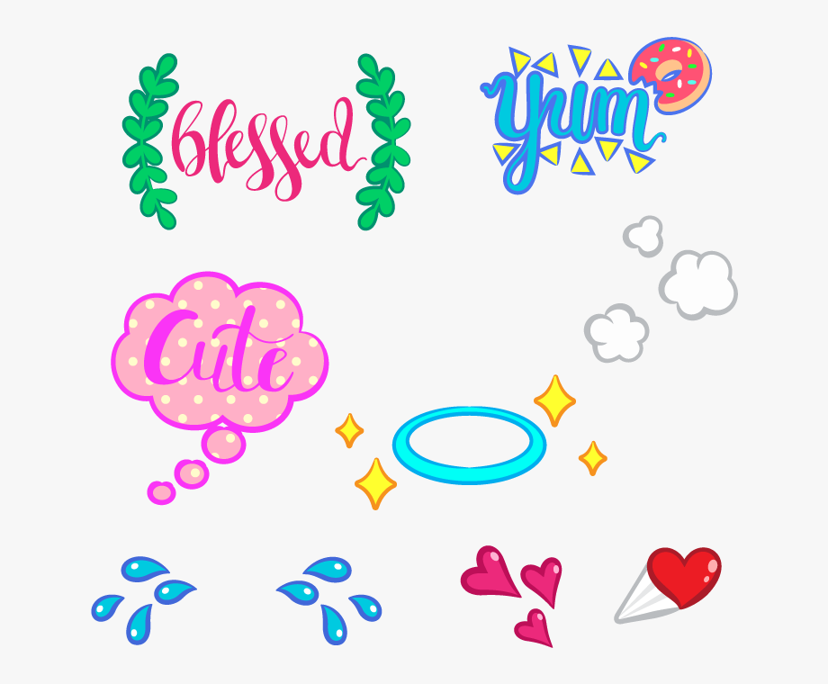 Snapchat Stickers Png, Cliparts & Cartoons.