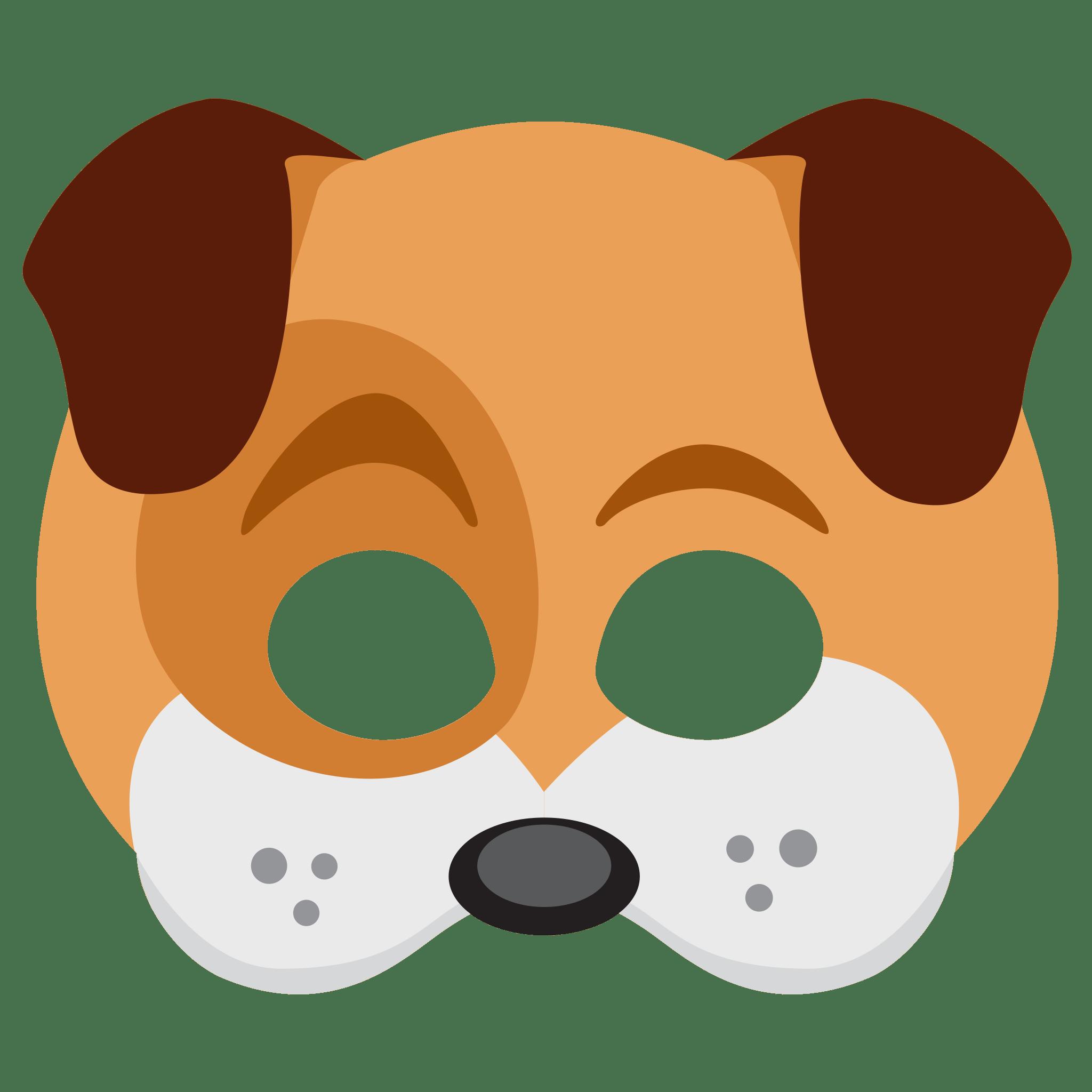 Snapchat Dog Face Sticker transparent PNG.