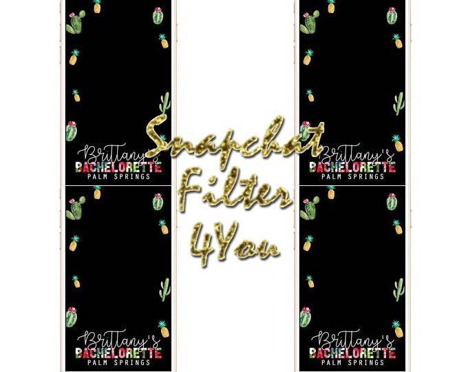Bachelorette Snapchat Geofilter, Neon Bachelorette Snapchat.