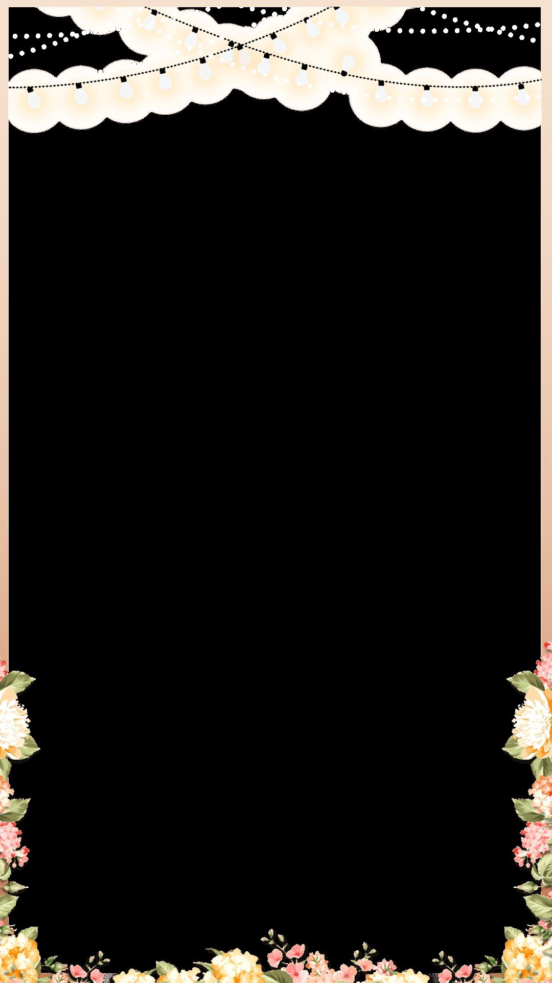 Elegant Rose Gold Spring Floral Wedding Snapchat Filter.