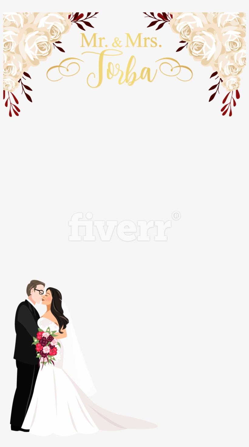 Snapchat Wedding Filter Png Transparent PNG.