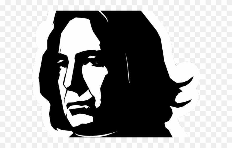 Severus Snape Clipart Black And White.
