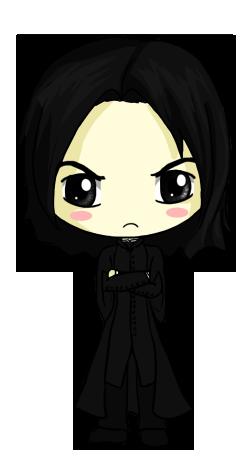 Snape Chibi by IcyPanther1.deviantart.com on @deviantART.