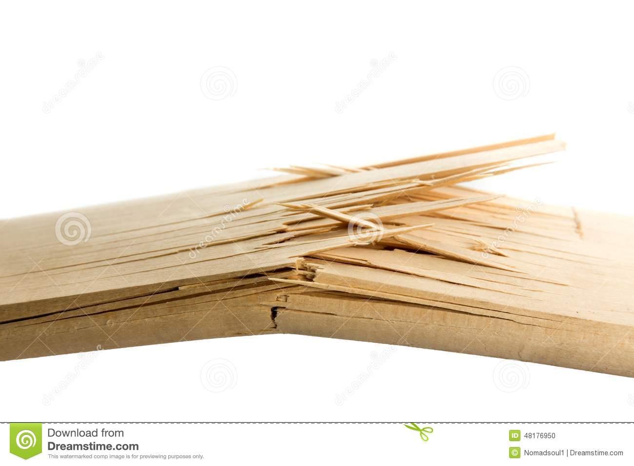 Broken Wooden Planks Stock Photo.