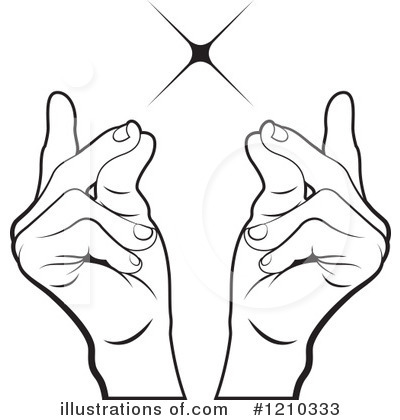 Snap fingers clipart.